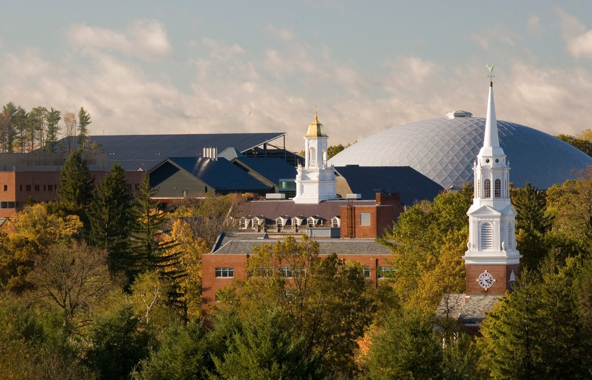 A fall view of the Storrs Campus.
